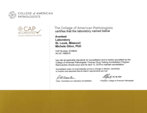 CAP certification for averhealth
