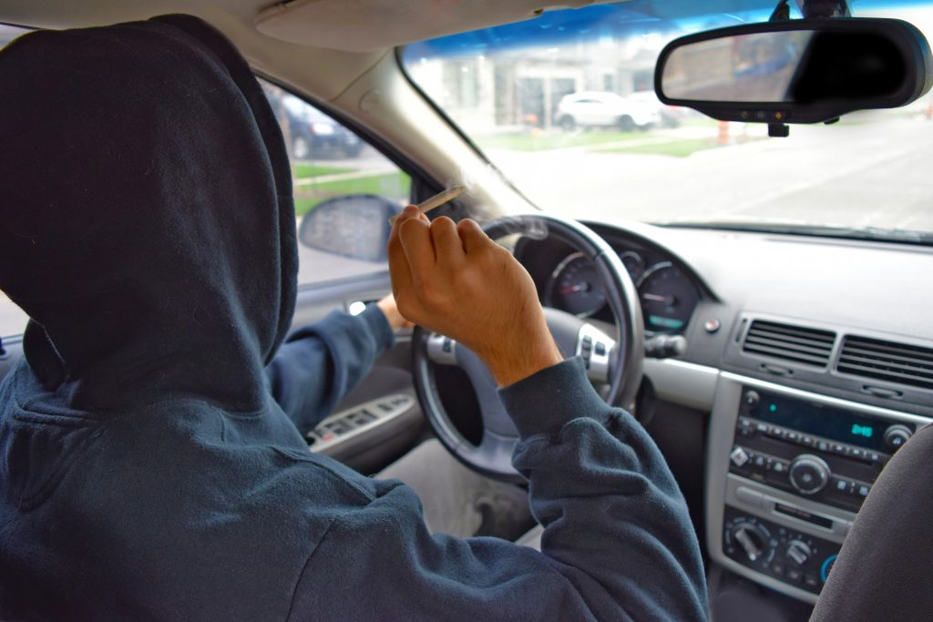 Drug-Impaired driver operating a car