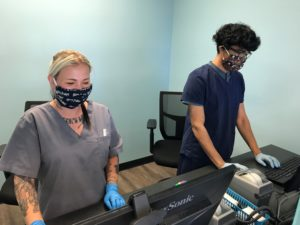 Drug Testing during COVID-19 requires Averhealth employees to wear PPE